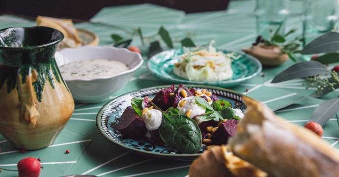 middag med boule: 645 kr/pers